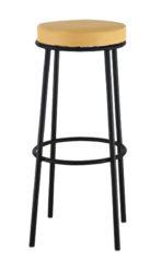 Barová židle s ocelovou trubkovou konstrukcí