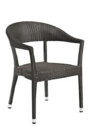 Polyratanová zaoblená židle