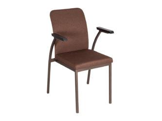 Židle s ocelovou konstrukcí a područkami