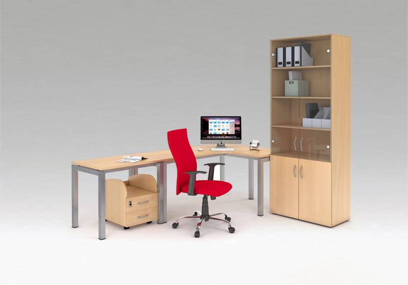 Standardní nábytek s E-kovovou konstrukcí