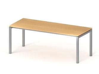 Psací stůl, 800 × 2000 mm, kovové nohy
