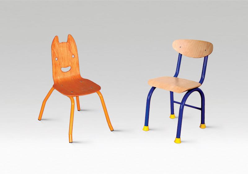 Kovové židličky