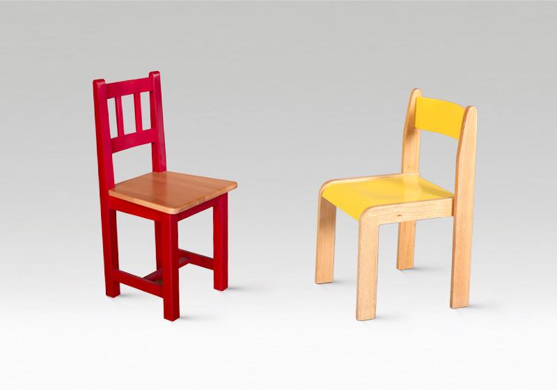 Dřevěné židličky