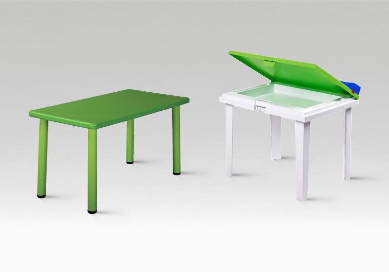 Plastové stolky