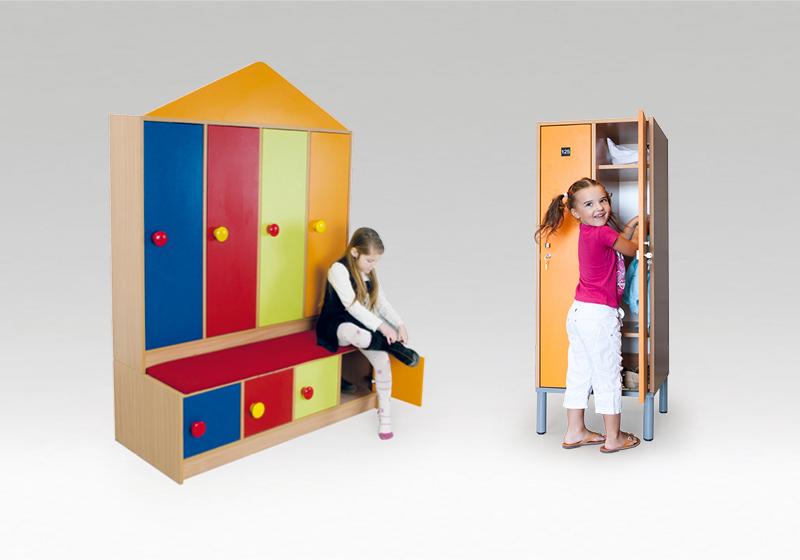 Šatny pro děti ve školce
