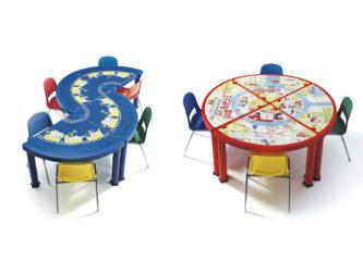 Puzzle modulární plastový stůl pro mateřské školky