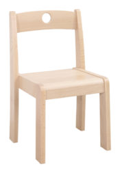 Donald 1 – židle s otvorem pro uchopení
