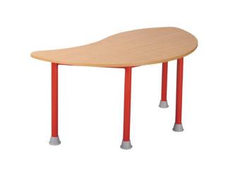 Pohádkový půlkruhový stůl vlna s kovovou konstrukcí