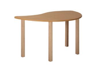 Pohádkový půlkruhový stůl vlna s dřevěnou konstrukcí