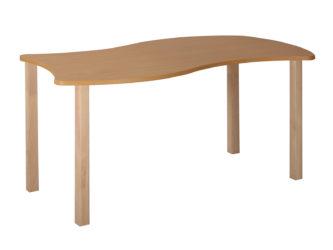 Pohádkový obdélníkový stůl vlna s dřevěnou konstrukcí