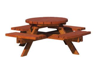 Kruhový zahradní stůl - ve velikosti pro mateřské školky
