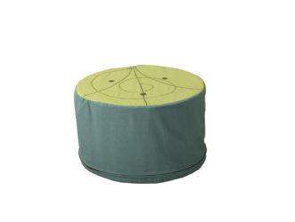Taburet ve tvaru koruny stromu - kruhový díl