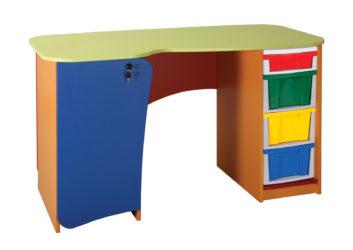 Stůl pro pedagoga s plastovou zásuvkou