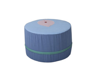 Taburet ve tvaru kruhového okvětního lístku