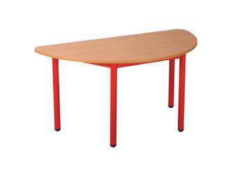 Pohádkový půlkruhový stůl s kovovou konstrukcí