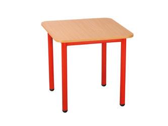 Pohádkový čtvercový stůl s kovovou konstrukcí