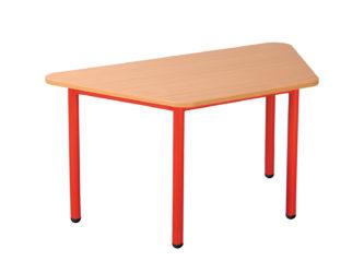 Pohádkový lichoběžníkový stůl s kovovou konstrukcí