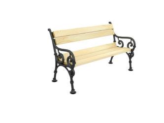 Hargita dvoumístná lavička s opěradlem