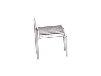 Romodul jednomístná venkovní lavička bez opěradla, s područkami