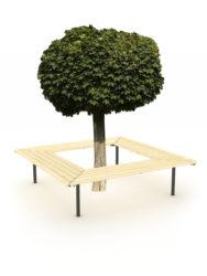 Stromová lichoběžníková lavička, 4 kusy