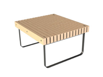 SimpliCity stůl, dvoumístná lavička