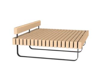 SimpliCity lavička na ležení s opěrkou hlavy