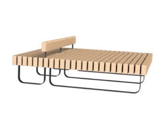 SimpliCity lavička na ležení dělená s opěrkou hlavy