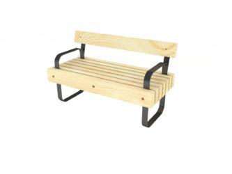 SimpliCity lavička s opěradlem, s područkami