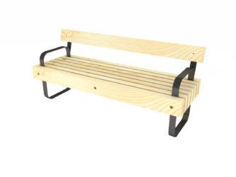 SimpliCity lavička s opěradlem a područkami