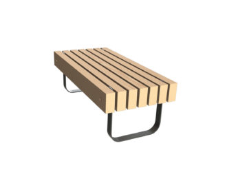 SimpliCity dvoumístná lavička bez opěradla