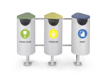 Central odpadkový koš na tříděný odpad