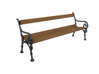 Čík trojmístná lavička s opěradlem