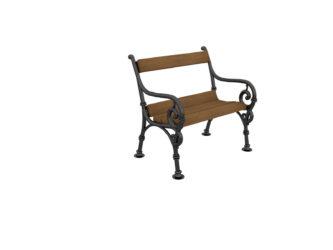 Čík jednomístná lavička s opěradlem