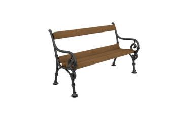 Čík dvoumístná lavička s opěradlem