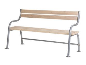 London trojmístná lavička s opěradlem
