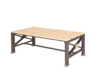 Roza dvoumístná lavička bez opěradla