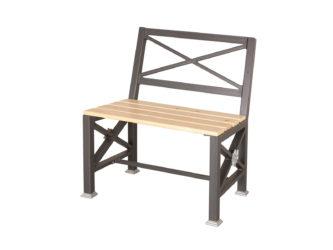 Roza jednomístná lavička s opěradlem