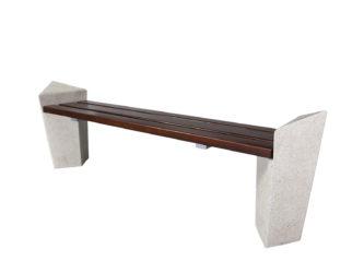 Stone venkovní trojmístná lavička bez opěradla