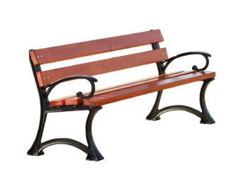 trojmístná, venkovní lavička s područkami