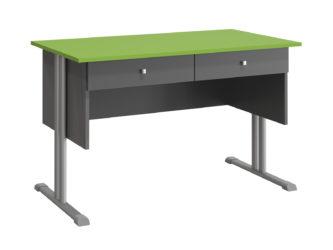 2 zásuvky, laminovaná deska stolu, ostré hrany
