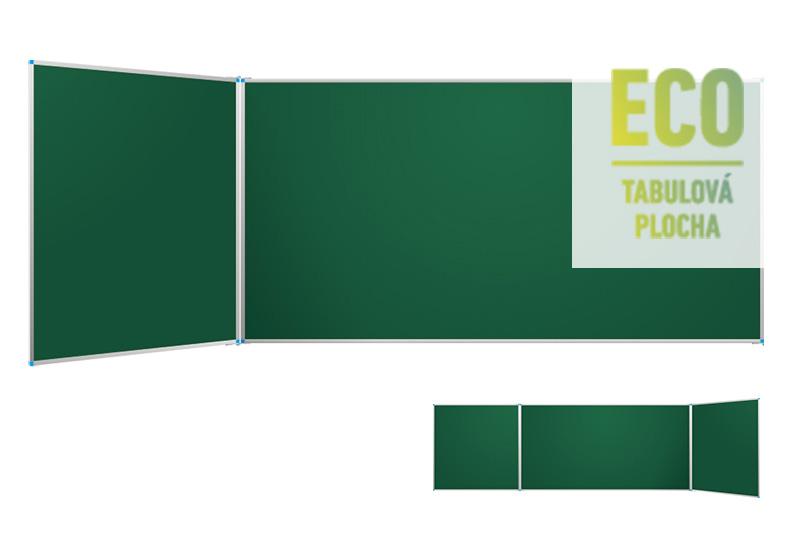 Klasické zelené nástěnné tabule ECO s postranními křídly