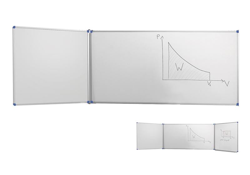 Klasické bílé nástěnné tabule s postranními křídly