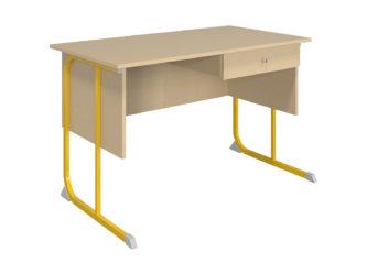 1 zásuvka, laminovaná deska stolu, ostré hrany