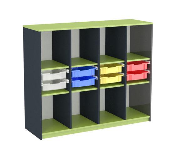 školní skříňka na kolečkách, zásuvky Gratnell's