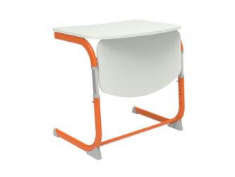 žákovská lavice, laminovaná deska, zaoblená