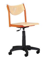 učitelská židle s plynovým pístem, překližka