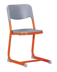 plastový sedák a opěradlo, stohovatelná