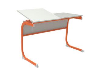 žákovská lavice, na jedné straně sklopná, laminovaná