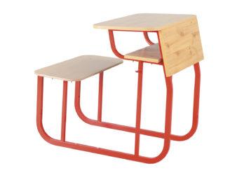 klasická školní laminovaná lavice, jednomístná, zaoblená