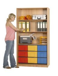 s policemi, 9 ks barevných krabic InBox ve velikosti